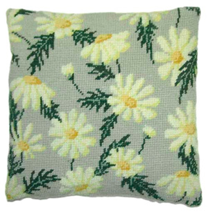 Marguerite Daisy Needlepoint Herb Cushion Kit