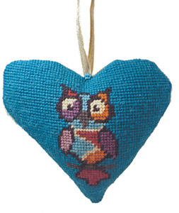 Funky Owl Needlepoint Ornament Kit