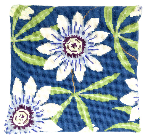 Passion Flower Needlepoint Herb Cushion Kit