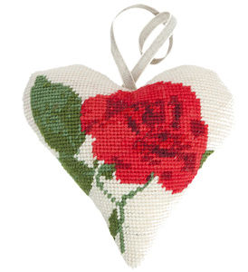 Rose Needlepoint Ornament Kit