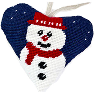 Snowman Needlepoint Ornament Kit