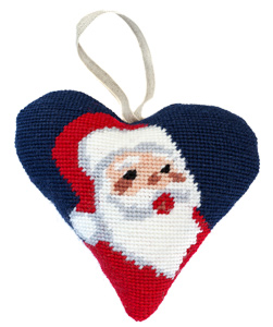 Santa Needlepoint Ornament Kit
