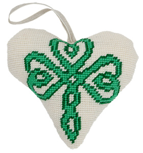 Celtic Shamrock Needlepoint Ornament Kit