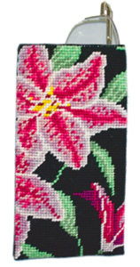 Stargazer Lily Needlepoint Eyeglass or Phone Case Kit