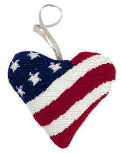 Stars & Stripes Needlepoint Ornament Kit