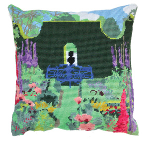 Sundial Garden Needlepoint Herb Cushion Kit