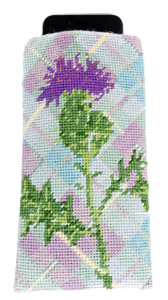 Thistle Needlepoint Eyeglass or Phone Case Kit
