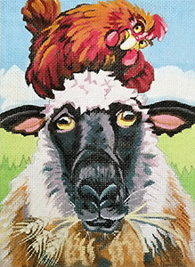 Rooster - Free Ride Hand Painted Needlepoint Canvas from Constance Townsend