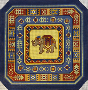 Shanta with Marasali Hand Painted Needlepoint Canvas