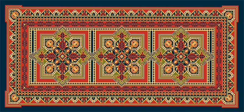 Ushak Medallion Runner