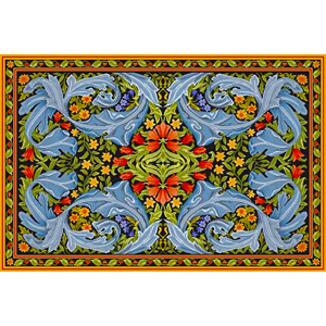 Beth Russell Needlepoint - William Morris Panel - Rug - Kit