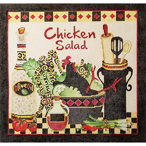 Chicken Salad Hand Painted Needlepoint Canvas from Debbie Hubbs