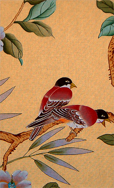 Birds with Beige Background