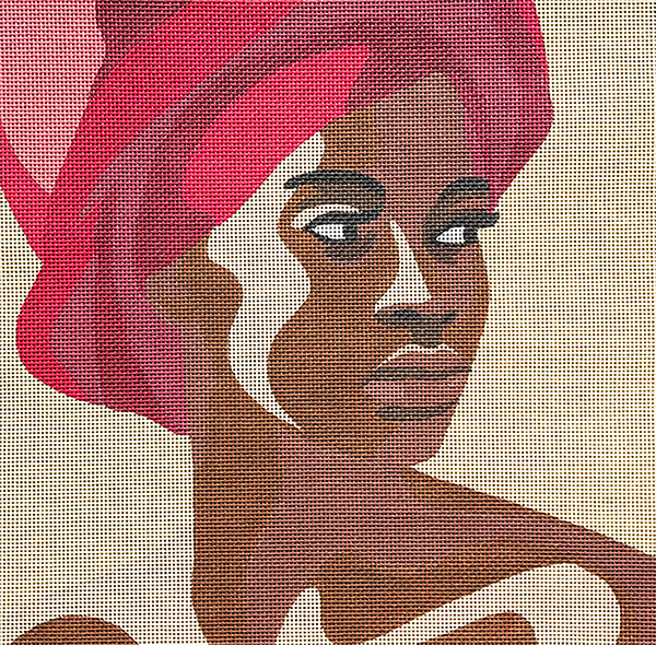 Black Woman with Red Turban