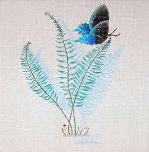 Boston Fern - Hand Painted Needlepoint Canvas from dede's Needleworks
