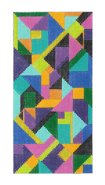 Kaleidoscope - Hand Painted Needlepoint Canvas from dede's Needleworks