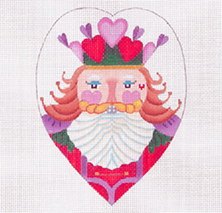 Sweetheart Nutcracker - Hand Painted Needlepoint Canvas from dede's Needleworks