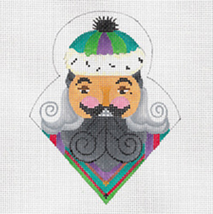 Cajun Nutcracker - Hand Painted Needlepoint Canvas from dede's Needleworks