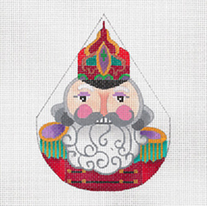 Cossack Nutcracker - Hand Painted Needlepoint Canvas from dede's Needleworks