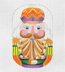 Tyrolian Nutcracker - Hand Painted Needlepoint Canvas from dede's Needleworks