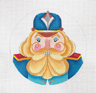 Brit Nutcracker - Hand Painted Needlepoint Canvas from dede's Needleworks