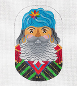 Basque Nutcracker - Hand Painted Needlepoint Canvas from dede's Needleworks