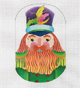 Nordic Nutcracker - Hand Painted Needlepoint Canvas from dede's Needleworks