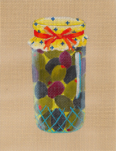 Mediterranean Olives - Hand Painted Needlepoint Canvas from dede's Needleworks