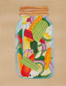 Jardiniere - Hand Painted Needlepoint Canvas from dede's Needleworks