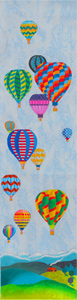 Fancy Flights Balloon - Hand Painted Needlepoint Canvas from dede's Needleworks