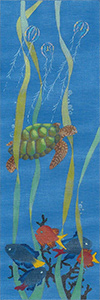 Sea Turtle - Hand Painted Needlepoint Canvas from dede's Needleworks