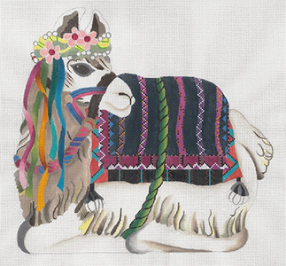 Llama Canvas - Hand Painted Needlepoint Canvas from dede's Needleworks