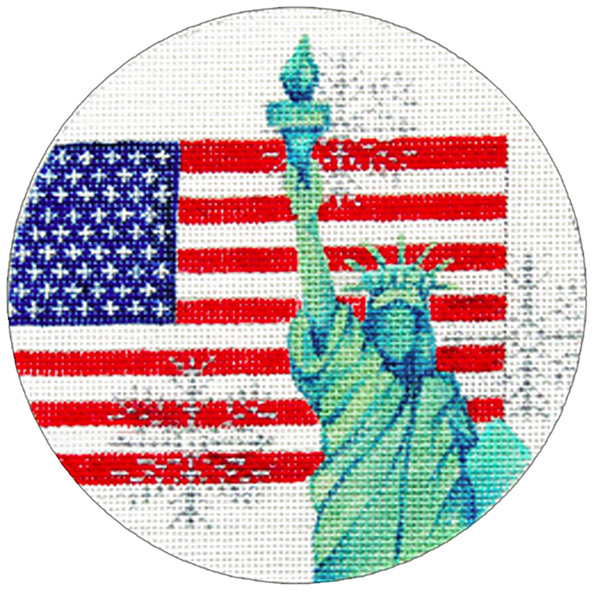 USA Ornament - Hand Painted Needlepoint Canvas from Trubey Designs