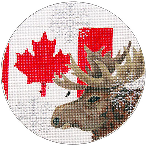 Canada Ornament - Hand Painted Needlepoint Canvas from Trubey Designs