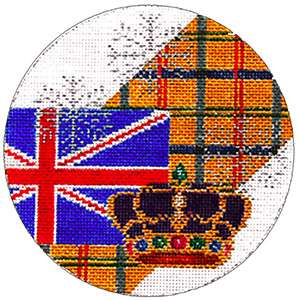 England Ornament - Hand Painted Needlepoint Canvas from Trubey Designs