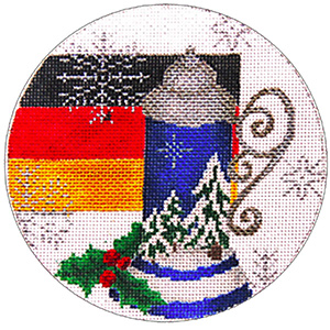 Germany Ornament - Hand Painted Needlepoint Canvas from Trubey Designs