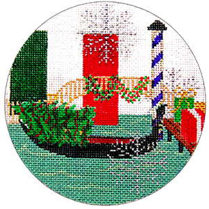 Italy Ornament - Hand Painted Needlepoint Canvas from Trubey Designs
