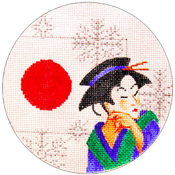 Japan Ornament - Hand Painted Needlepoint Canvas from Trubey Designs