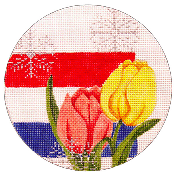 Netherlands Ornament - Hand Painted Needlepoint Canvas from Trubey Designs