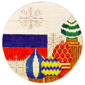 Russia Ornament - Hand Painted Needlepoint Canvas from Trubey Designs