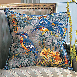 Glorafilia Needlepoint - Kingfishers Cushion Kit