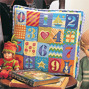 Glorafilia Needlepoint - Numbers Cushion Kit
