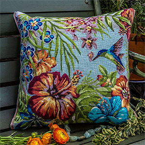 Glorafilia Needlepoint - Tropical Cushion Kit