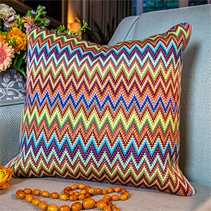 Glorafilia Needlepoint - Florentine Bargello Cushion Kit