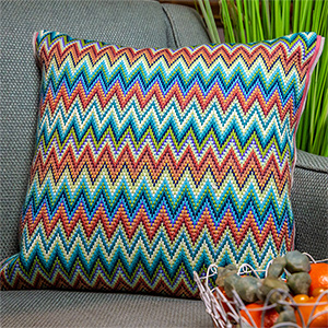 Glorafilia Needlepoint - Venetian Bargello Cushion Kit