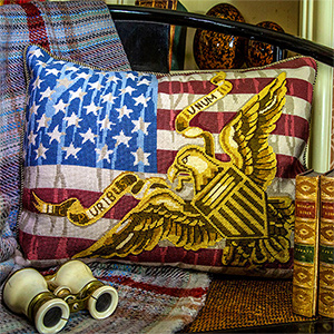 Glorafilia Needlepoint - Stars & Stripes Cushion Kit