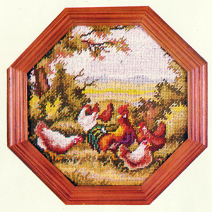 Chickens Needlepoint Kit
