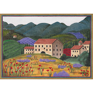 Tuscan Spring Hand Painted Canvas by Sharon G