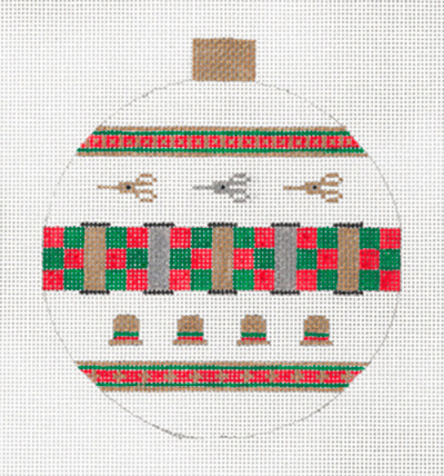 Stitcher's Ornament Green & Red by Sharon G