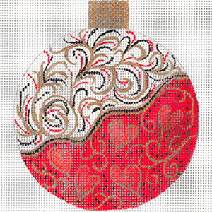 Red Tendrils Ornament by Sharon G